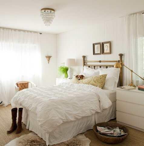 Slaapkamer Met Kroonluchter