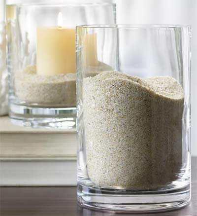 Glazen Vaas Vullen Met Decoratie Zand