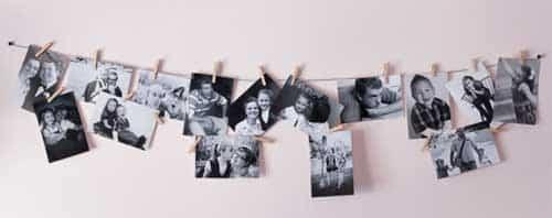 Foto's Met Knijper Aan Een Touwtje Ophangen
