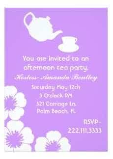 Inspiratie Uitnodiging High Tea