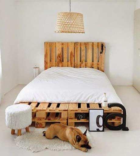 Twee Lagen Pallets Als Bed