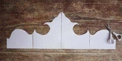 Vorm Uit Papier Knippen Voor Een Hoofdbord Van Behang