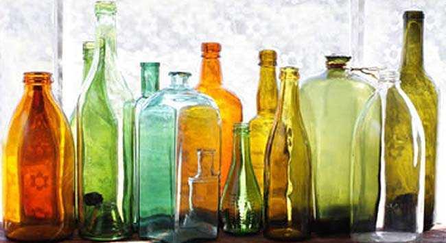 Vensterbank Versieren Met Glazen Flessen
