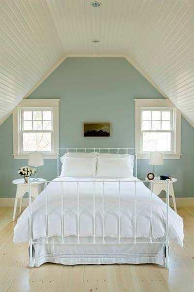 Kamer met een schuine wand decoreren gelukkigerwonen - Kamer kleur idee ...