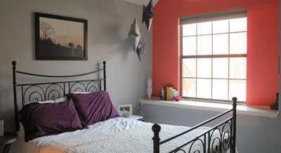 Kleine slaapkamer inrichten gelukkigerwonen - Muurkleuren voor slaapkamer ...