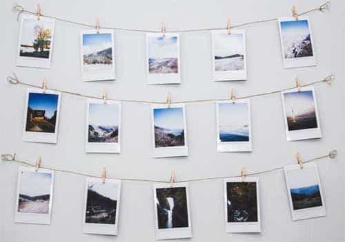 Fotos Ophangen Zonder Lijst.Fotomuur Maken 18 Ideeen Met En Zonder Lijsten