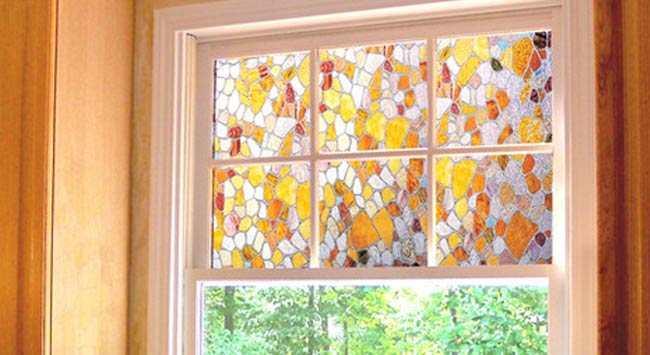 Raamfolie - Glas-in-lood - Decoratie