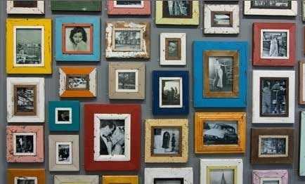 Bonte Verzameling Aan Vintage Fotolijstjes